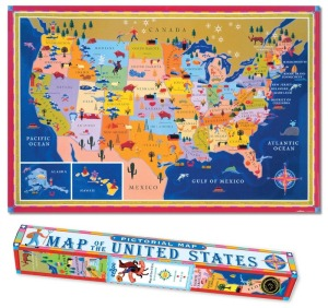Map of the United States by Eeboo